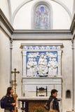 Altare i det Medici kapellet av basilikadi Santa Croce royaltyfria bilder