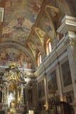 Altare i Franciscankyrkan av förklaringen Ljubljana Slove royaltyfria bilder