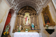 Altare i kloster av Santa Cruz (Coimbra) royaltyfri bild