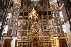 Altare i rysk ortodoxkyrka arkivfoto