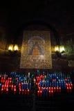 Altare i Santa Maria de Montserrat Abbey, Spanien Arkivfoton