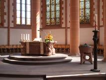 Altare illuminato Fotografie Stock