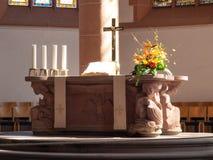 Altare illuminato Fotografia Stock