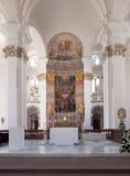 Altare illuminato Fotografia Stock Libera da Diritti