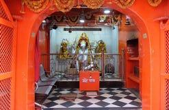 Altare indù di Ganesha della dea nel tempio in Pushkar, India Fotografie Stock