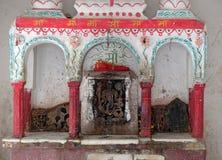Altare indù sulla via di Pushkar, India Fotografia Stock Libera da Diritti