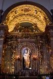 Altare inom den Turin domkyrkan Arkivbild