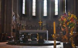 Altare, la nostra signora di Covadonga Sanctuary, Asturie, Spagna Immagine Stock
