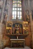 Altare laterale della st Sebalduskirche a Norimberga Fotografie Stock