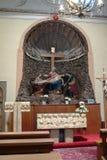 Altare laterale nella chiesa in Konice Immagini Stock Libere da Diritti