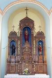 Altare limitato di Gesù in chiesa di San Martino in Scitarjevo, Croazia Immagine Stock