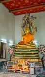 Altare med guld- Buddha Royaltyfria Foton