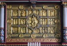 Altare medioevale dorato in Stadil Fotografia Stock