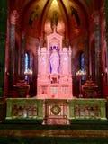 Altare miracoloso del lato del santuario della medaglia Fotografie Stock Libere da Diritti