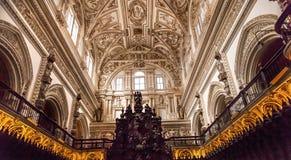 Altare Moschea Cordova Spagna di Ceiiing della cattedrale Fotografia Stock Libera da Diritti