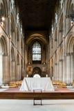 Altare Nave della cattedrale di Peterborough Fotografie Stock