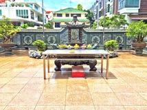 Altare nel cortile cinese del tempio Fotografie Stock Libere da Diritti