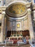 Altare nel panteon, Roma, Italia Fotografia Stock