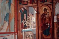 Altare nel tempio Fotografia Stock Libera da Diritti