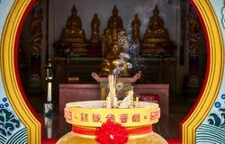Altare nel tempio cinese Fotografia Stock Libera da Diritti