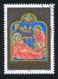 Altare nell'abbazia di Klosterneuburg dal Master da Verdun Immagini Stock