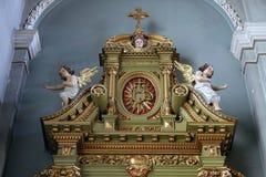 Altare nella basilica del cuore sacro di Gesù a Zagabria Fotografia Stock