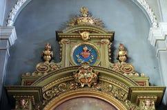 Altare nella basilica del cuore sacro di Gesù a Zagabria Immagine Stock Libera da Diritti