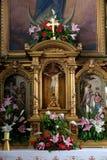 Altare nella basilica del cuore sacro di Gesù a Zagabria Fotografie Stock Libere da Diritti