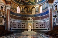 Altare nella basilica di Lateran nella città di Roma Fotografia Stock Libera da Diritti