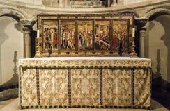 Altare nella cappella del ` s di St Luke, cattedrale di Norwich, Regno Unito Fotografia Stock