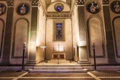 Altare nella cappella di Pazzi in Di Santa Croce della basilica Fotografie Stock