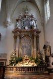 Altare nella cattedrale di Graz Fotografia Stock Libera da Diritti