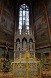 Altare nella cattedrale di Praga Fotografia Stock Libera da Diritti