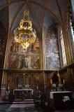 Altare nella cattedrale di Praga Immagine Stock Libera da Diritti