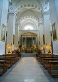 Altare nella cattedrale di Vilnius a Vilnius in Lituania Fotografie Stock