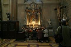 Altare nella cattedrale di Zagabria Fotografia Stock