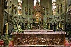 Altare nella cattedrale di Zagabria Fotografia Stock Libera da Diritti