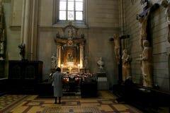 Altare nella cattedrale di Zagabria Immagini Stock Libere da Diritti