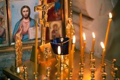 Altare nella chiesa Immagini Stock Libere da Diritti