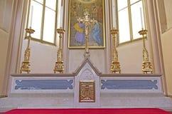Altare nella chiesa Immagine Stock