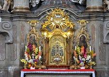 Altare nella chiesa Immagine Stock Libera da Diritti
