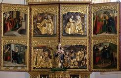 Altare nella chiesa dell'iceberg di Maria in Hallstatt Fotografia Stock Libera da Diritti