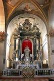 Altare nella chiesa della st Euphemia in Rovigno Immagine Stock Libera da Diritti