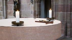 Altare nella chiesa della st Sebaldus, Norimberga Immagine Stock