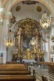 Altare nella chiesa di Barmherzigenkirche Graz, Stiria, Austria Fotografia Stock