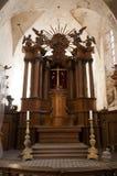 Altare nella chiesa di Bernardines a Vilnius Fotografie Stock