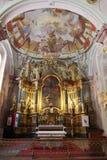 Altare nella chiesa di Matthias di Budapest Fotografia Stock