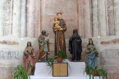 Altare nella chiesa di Sant'Antonio di Padova in Bucica, Croazia Fotografia Stock