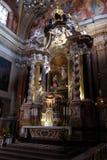 Altare nella chiesa francescana dell'annuncio a Transferrina Immagine Stock Libera da Diritti