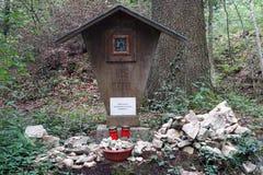 Altare nella foresta Fotografie Stock